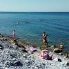 Анапа пляж Высокий берег начало августа море